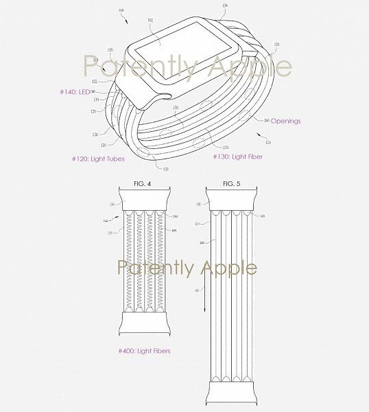 Apple запатентовала ремешок-хамелеон для умных часов