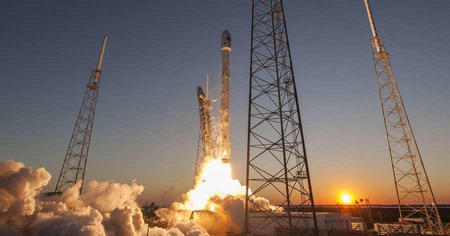 Как взлетает Falcon 9 Block 5