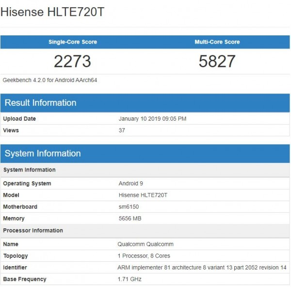 Появились результаты тестов SoC Qualcomm Snapdragon 675 в Geekbench