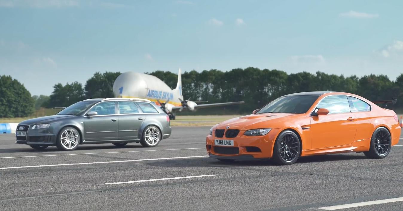 BMW E92 M3 GTS и Audi RS4 B7 сравнили в дрэг-гонке: видео