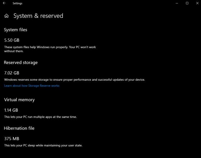 Windows зарезервирует 7 ГБ для обновления системы во избежание нехватки места на жестком диске - 2