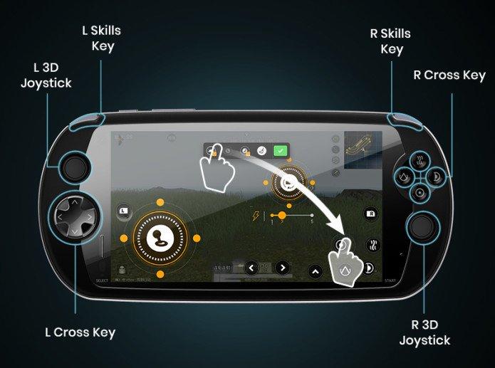 MOQI — игровой смартфон с огромным аккумулятором, который больше похож на портативную приставку