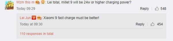 Гендиректор Xiaomi намекнул на улучшенную быструю зарядку для Xiaomi Mi 9