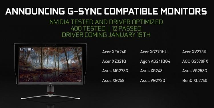 NVIDIA рассказала об особенностях режима совместимости с мониторами FreeSync