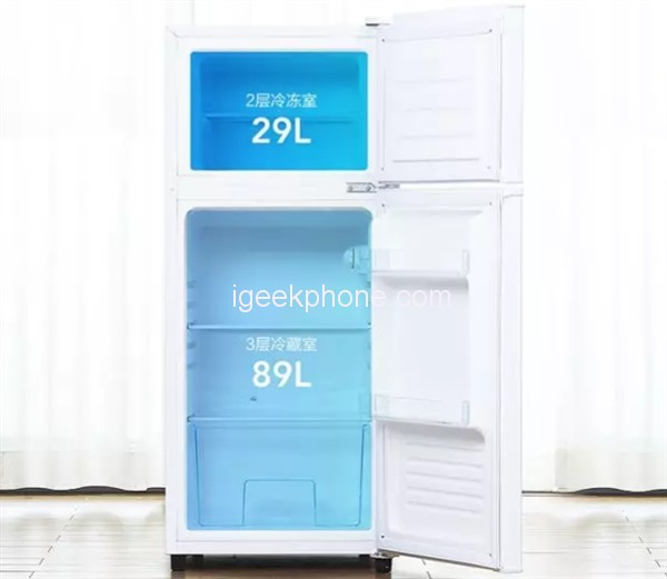 Небольшой двухкамерный холодильник Xiaomi Yunmi 118L стоит 100 долларов