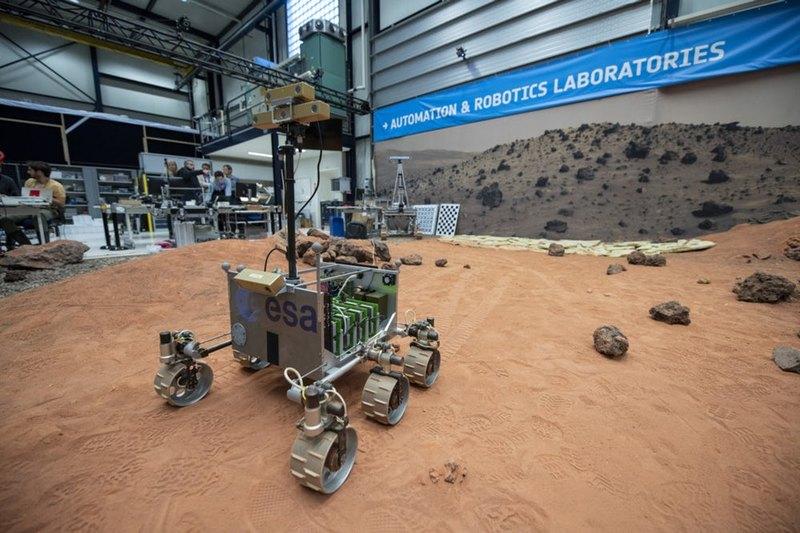 Прототип ровера ExoMars испытали в условиях, приближенных к марсианским