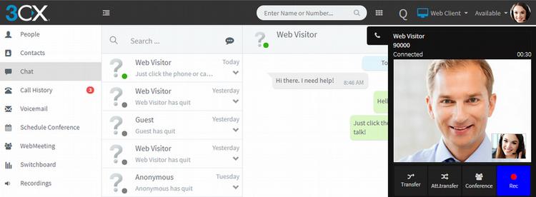 Коммуникационный виджет от 3CX для вашего сайта WordPress - 3