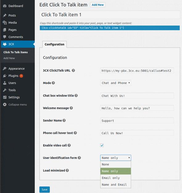 Коммуникационный виджет от 3CX для вашего сайта WordPress - 5