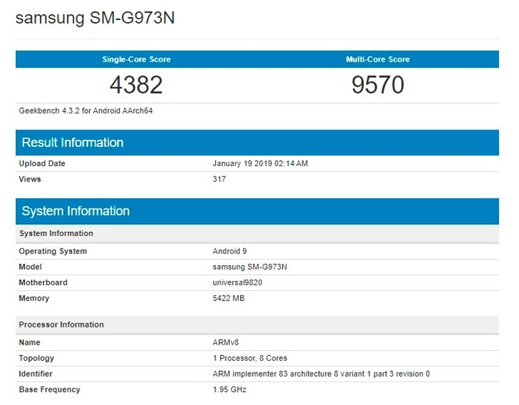 Samsung Galaxy S10 на базе Exynos 9820 не догнал iPhone XS по производительности