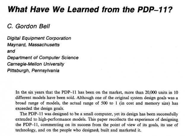 Чему нас научила PDP-11? - 1