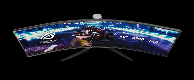 Геймерский монитор Asus ROG Strix XG49VQ порадует любителей сверхширокоформатных моделей
