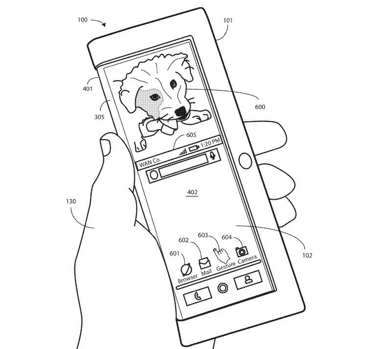 Патентная документация проливает свет на гибкий смартфон Motorola