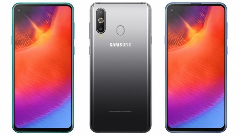 Samsung представила смартфон Galaxy A9 Pro (2019) с отверстием в экране