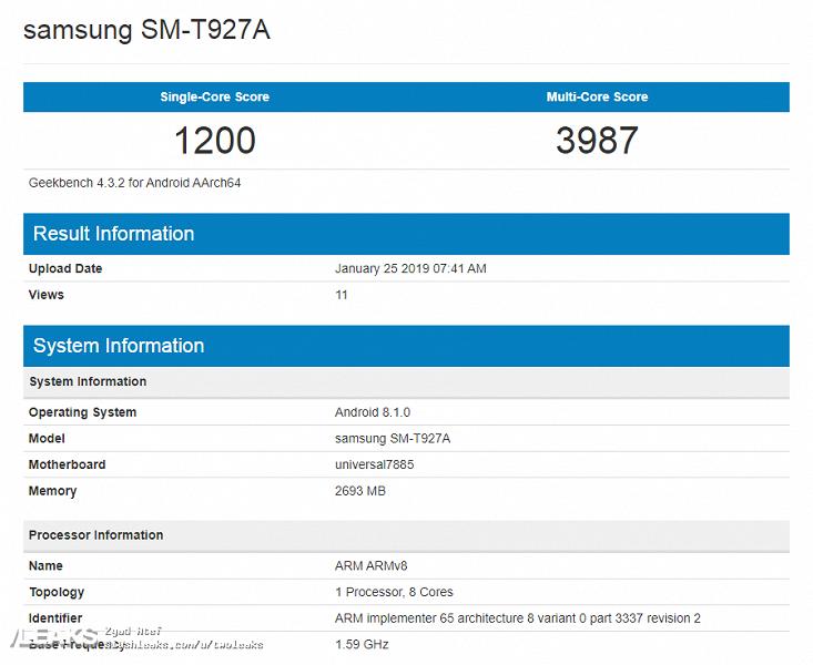 Огромный планшет Samsung Galaxy View 2 замечен в Сети