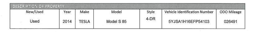 Б-у Tesla Model S 85 на службе департамента полиции города Фримонт, штат Калифорния, США (там, где завод Tesla) - 7