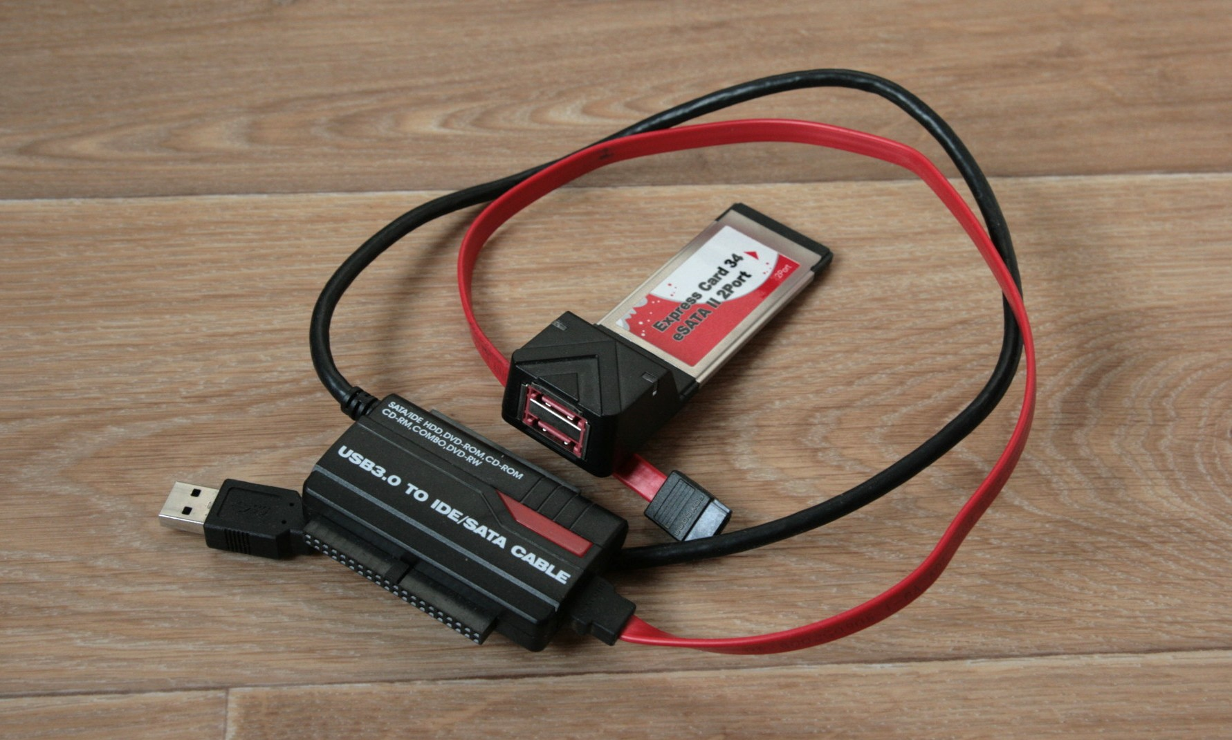 USB to SATA/IDE and ExpressCard to SATA adapters