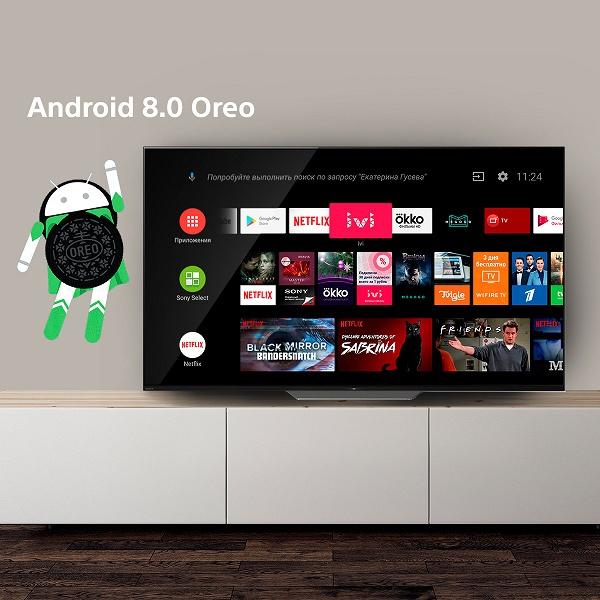 Sony начала обновлять до Android 8.0 Oreo умные телевизоры BRAVIA в России