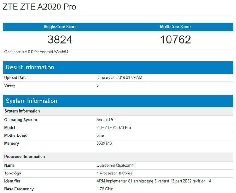 ZTE выпустит конкурента Samsung Galaxy S10+ на базе Snapdragon 855
