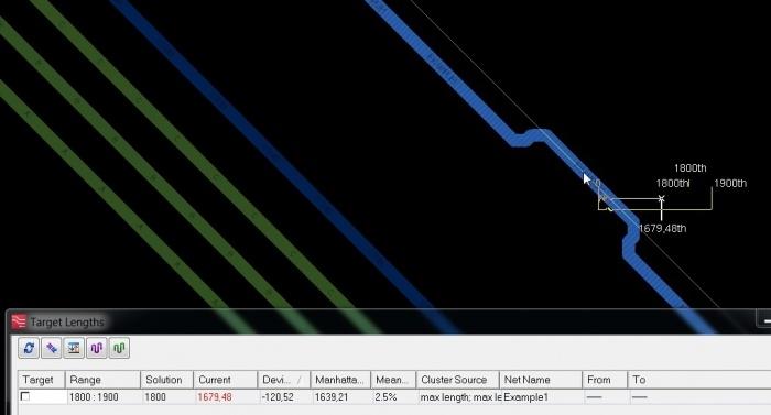 Нюансы работы инструментов Target Length и Tuning Meter в PADS Professional-Xpedition - 3