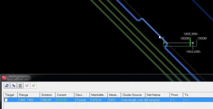 Нюансы работы инструментов Target Length и Tuning Meter в PADS Professional-Xpedition - 4
