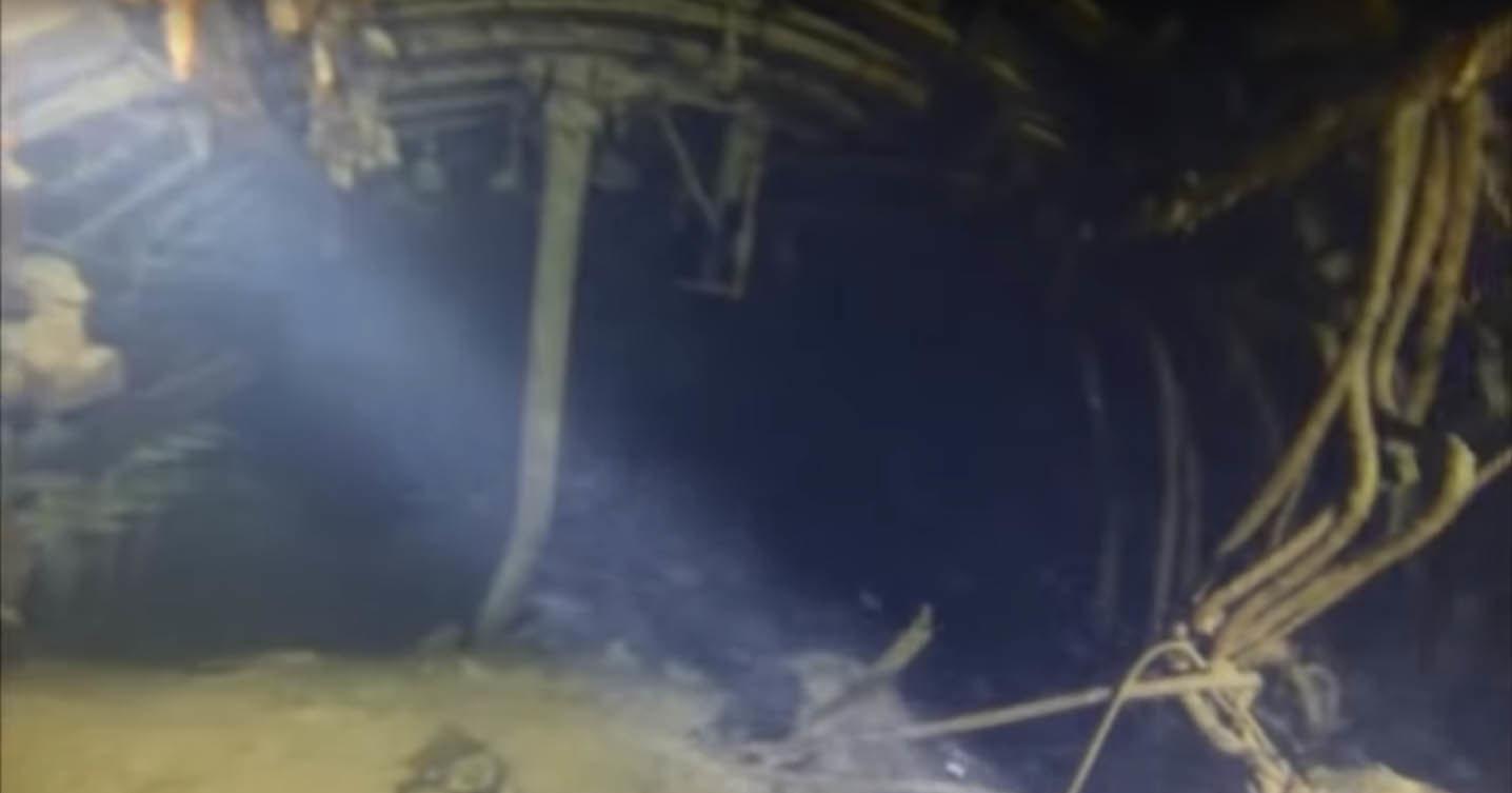 Как выглядит изнутри затопленная век назад субмарина