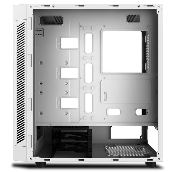 Корпус DeepCool Matrexx 55 ADD-RGB WH выполнен в белом цвете