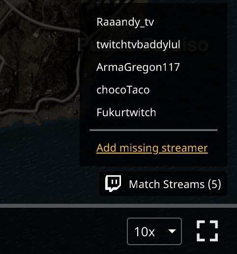 Поиск Twitch-стримеров в матче PUBG - 8