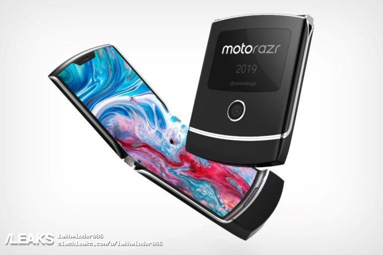 Так может выглядеть смартфон-раскладушка Moto RAZR 2019 с гибким экраном