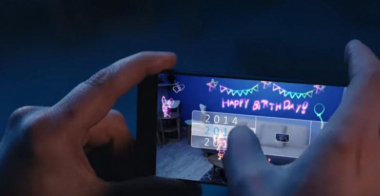 Sony рекламирует камеру 3D ToF в новых смартфонах