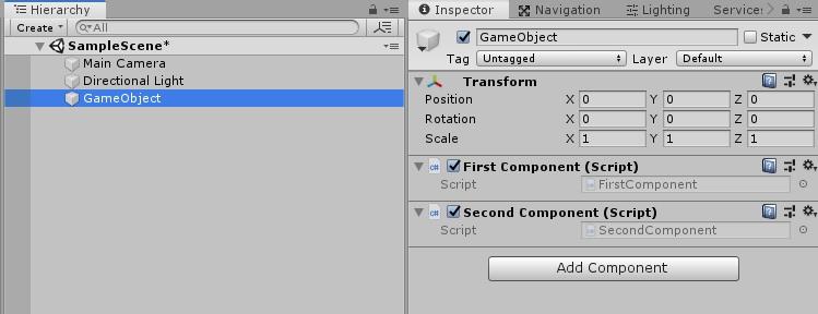 Управление состоянием и событиями между компонентами в GameObject - 5