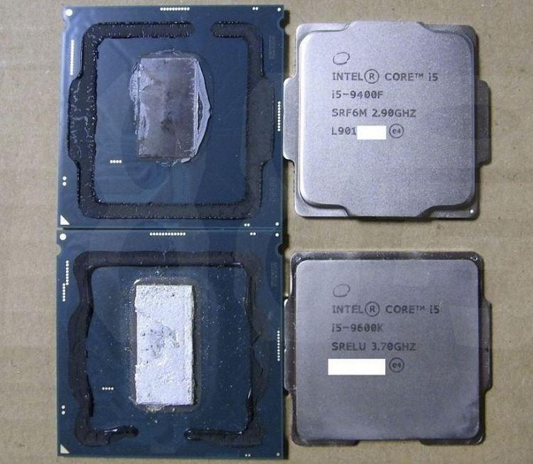 Некоторые процессоры Intel Core F-серии получили термопасту вместо припоя