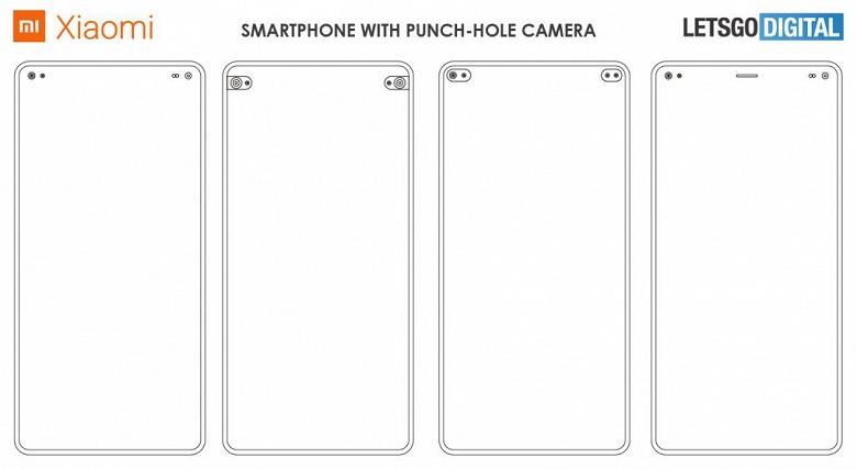 Нужно больше отверстий! Xiaomi патентует смартфон с двумя симметричными отверстиями в экране