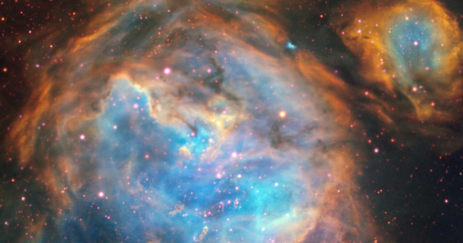Джет от молодой звезды в соседней галактике: уникальный снимок