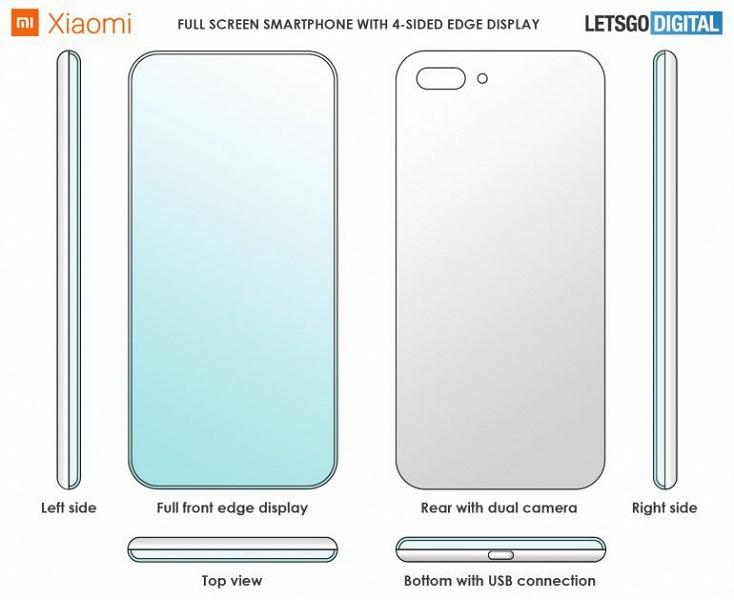 Галерея дня: смартфон Xiaomi с экраном, загнутым на все четыре кромки