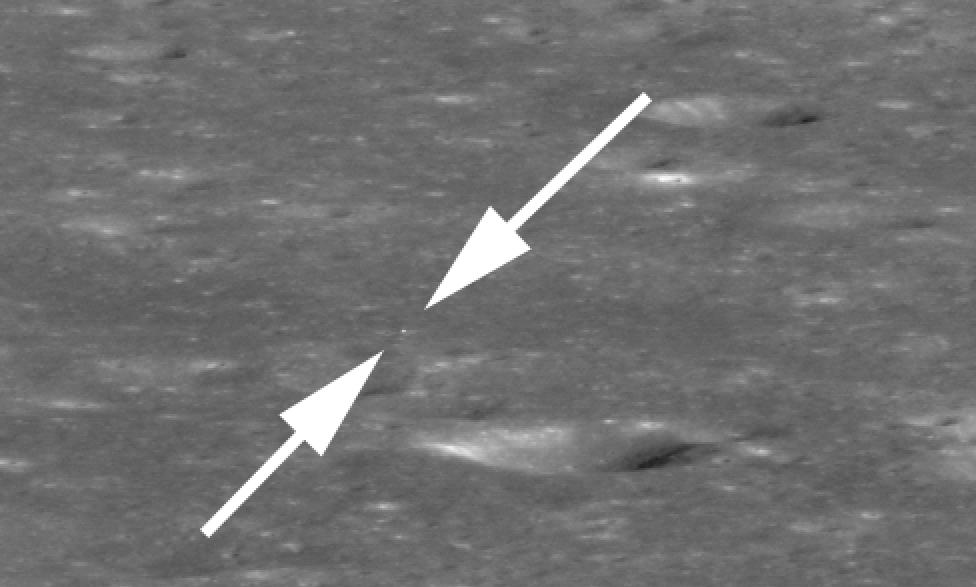 Лунный орбитальный зонд NASA сделал первые снимки Китайской станции «Чанъэ-4» — два пикселя света - 1