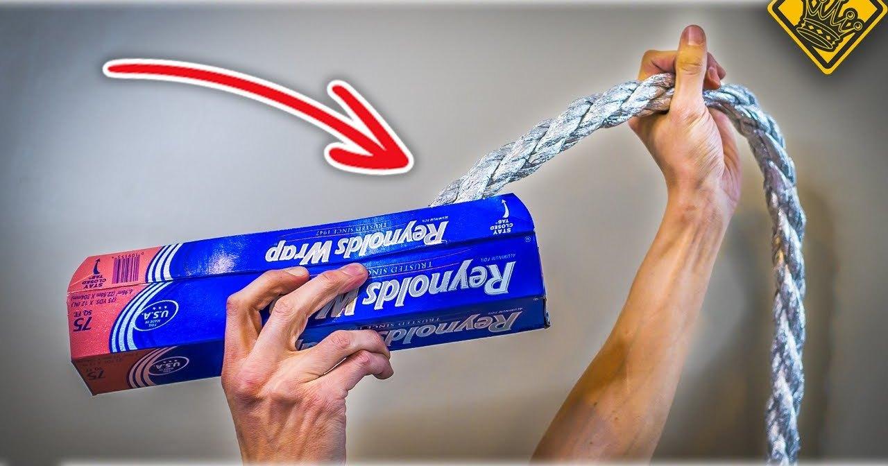 Как сделать веревку из алюминиевой фольги