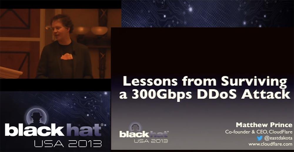 Конференция BLACK HAT. Уроки выживания при DDOS-атаке 300 Гбит - с. Часть 1 - 1