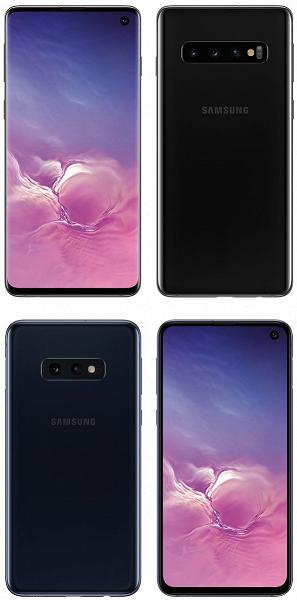 Официальные рендеры Samsung Galaxy S10 и Galaxy S10e без водяных знаков и обои