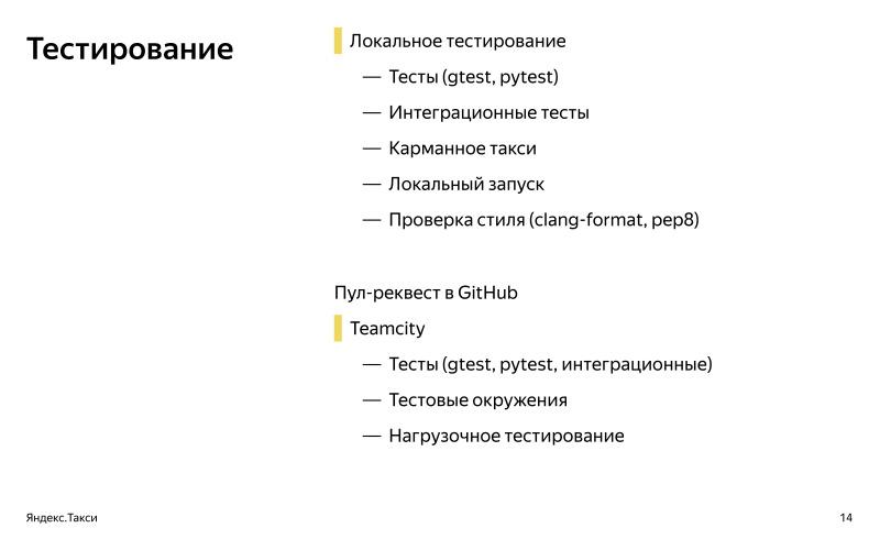 От пул-реквеста до релиза. Доклад Яндекс.Такси - 2