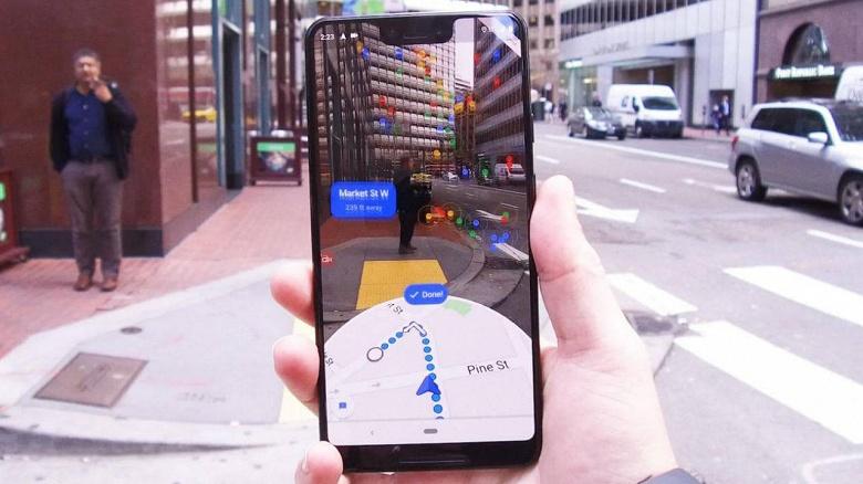 Дополненная реальность в Google Maps упрощает ориентирование на местности, но долго пользоваться этим режимом нельзя