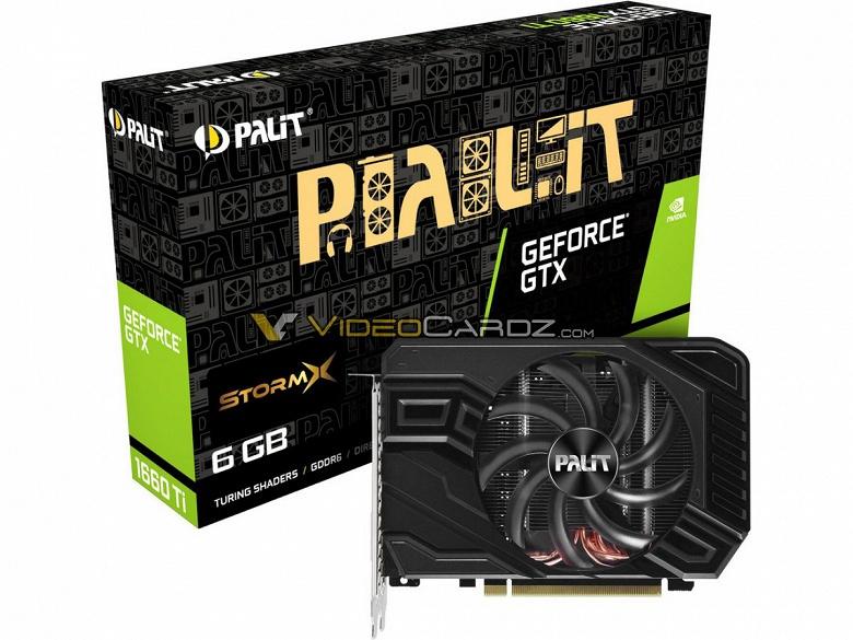 Видеокарта GeForce GTX 1660 Ti выйдет 22 февраля, опубликованы изображения моделей EVGA GeForce GTX 1660 Ti XC и Palit GTX 1660 Ti StormX