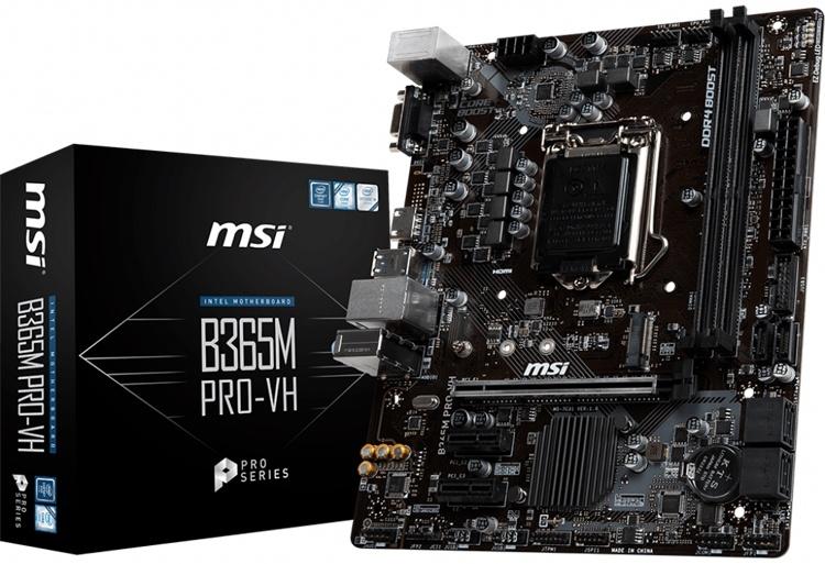Дуэт материнских плат MSI B365M PRO для процессоров Intel Coffee Lake