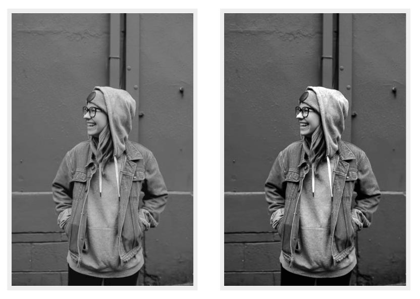 Результат работы гамма-коррекции для изображения в оттенках серого