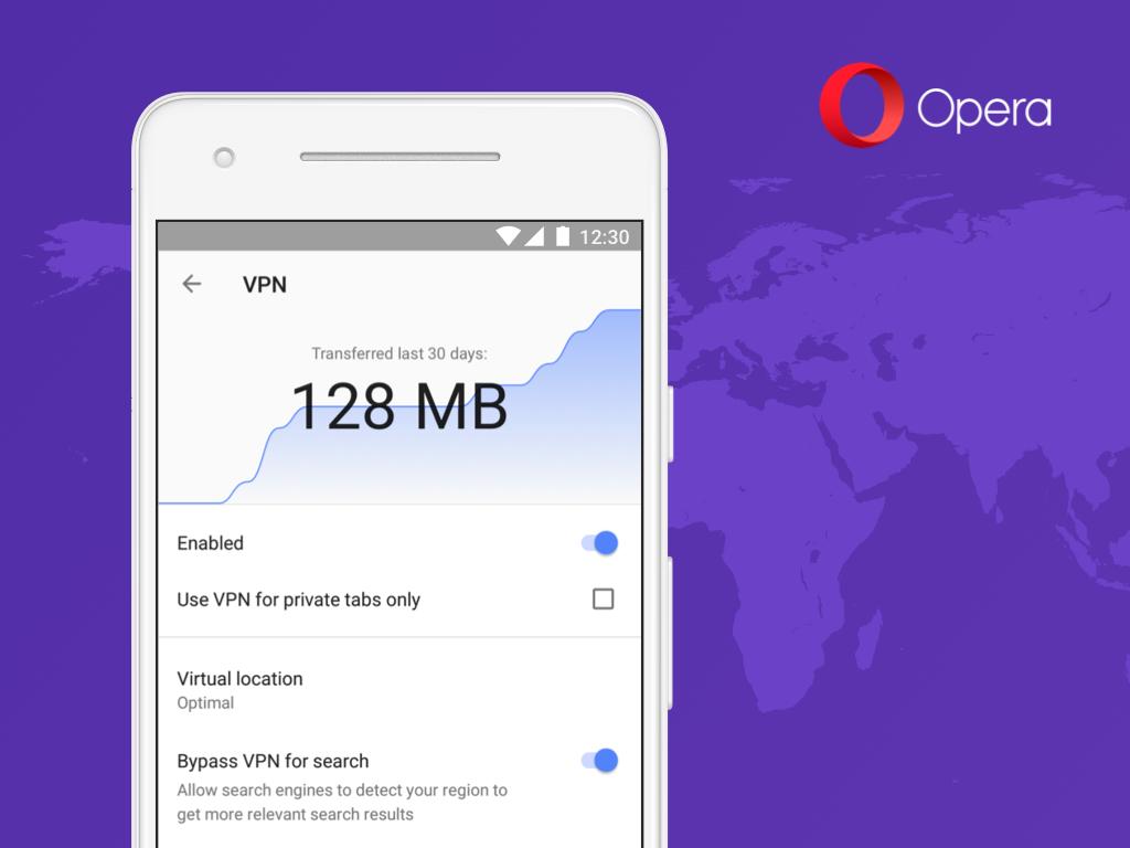 Мобильная Opera обзавелась бесплатным VPN - 1