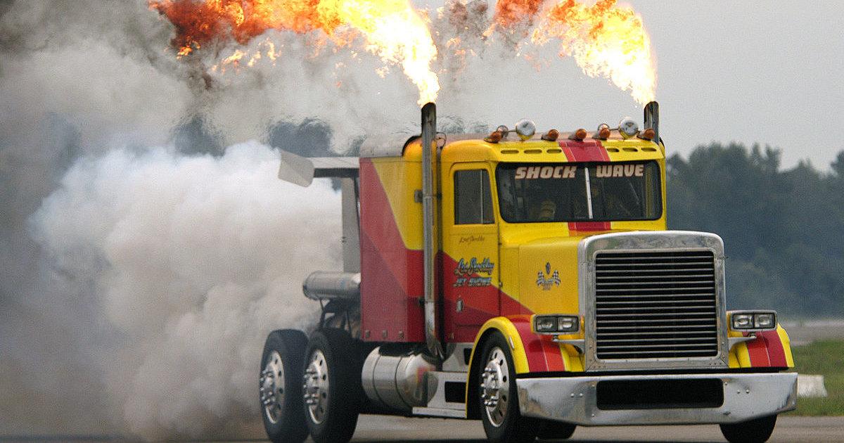Можно ли построить реактивный грузовик? Еще как!