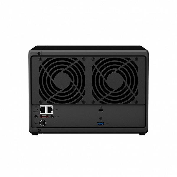 Настольное хранилище Synology DiskStation DS1019+ рассчитано на пять накопителей