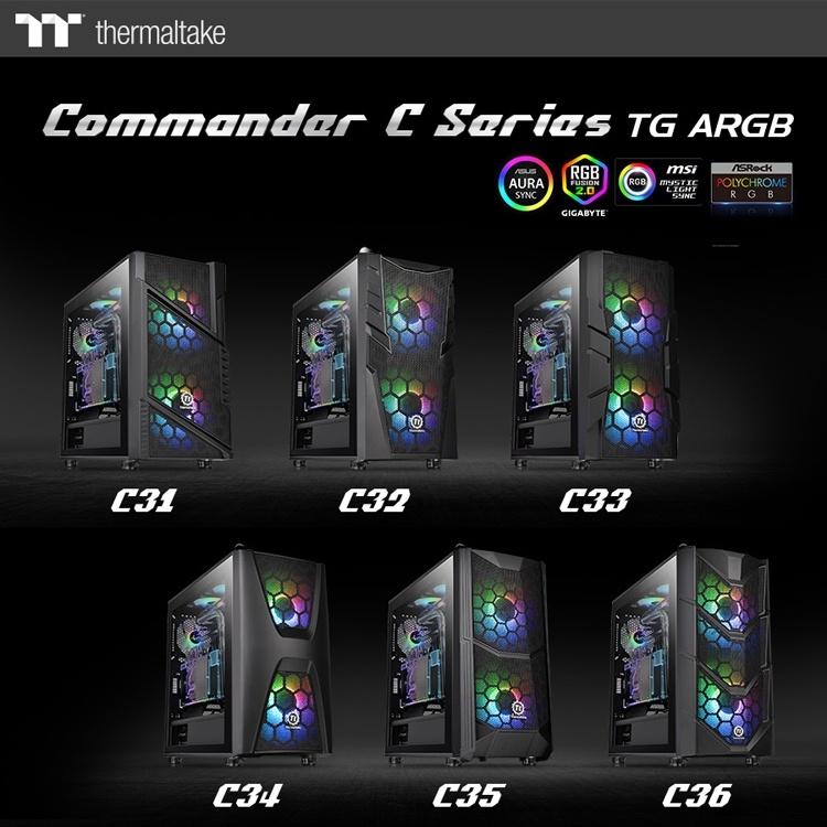 В серию Thermaltake Commander C TG ARGB вошли шесть ПК-корпусов