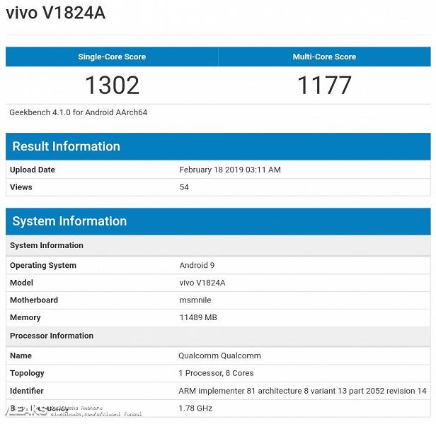 Китайский флагман с 12 ГБ ОЗУ и Snapdragon 855 провалился с треском в тесте производительности