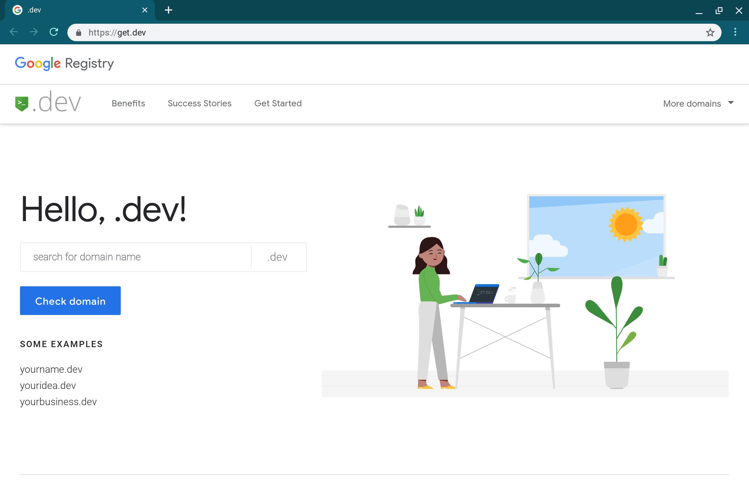 Google открыл доменную зону .dev - 2