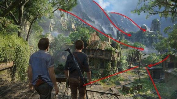 Как работает Level Flow в Uncharted 4 и The Last Of Us - 4
